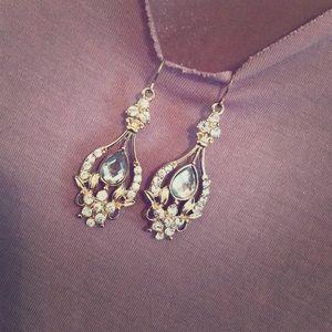 Charming Charlie Gold chandelier earrings
